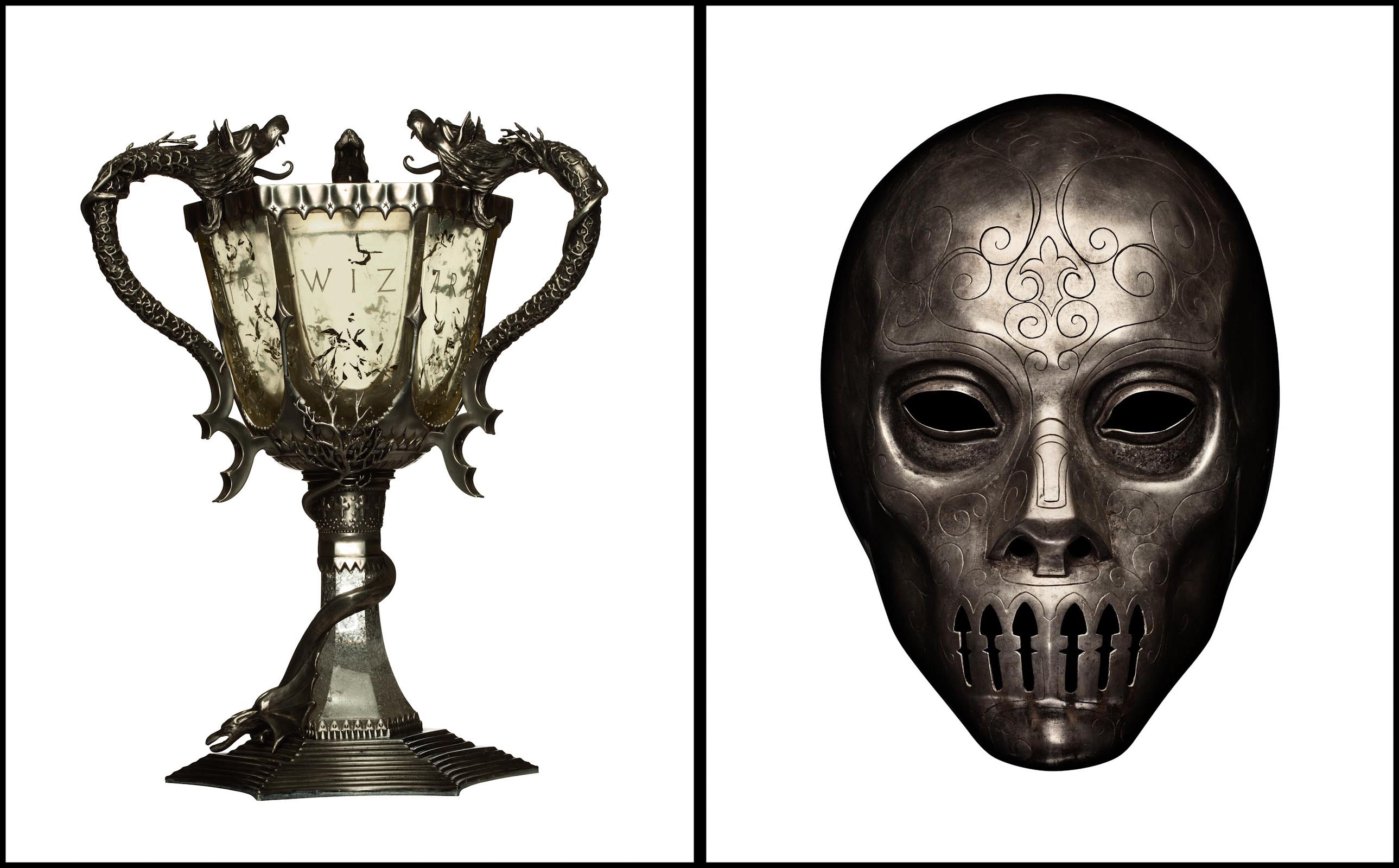 Harry Potter props, Tri-Wizard Cup and Death Eater Mask - Burbank, CA - Entertainment Weekly