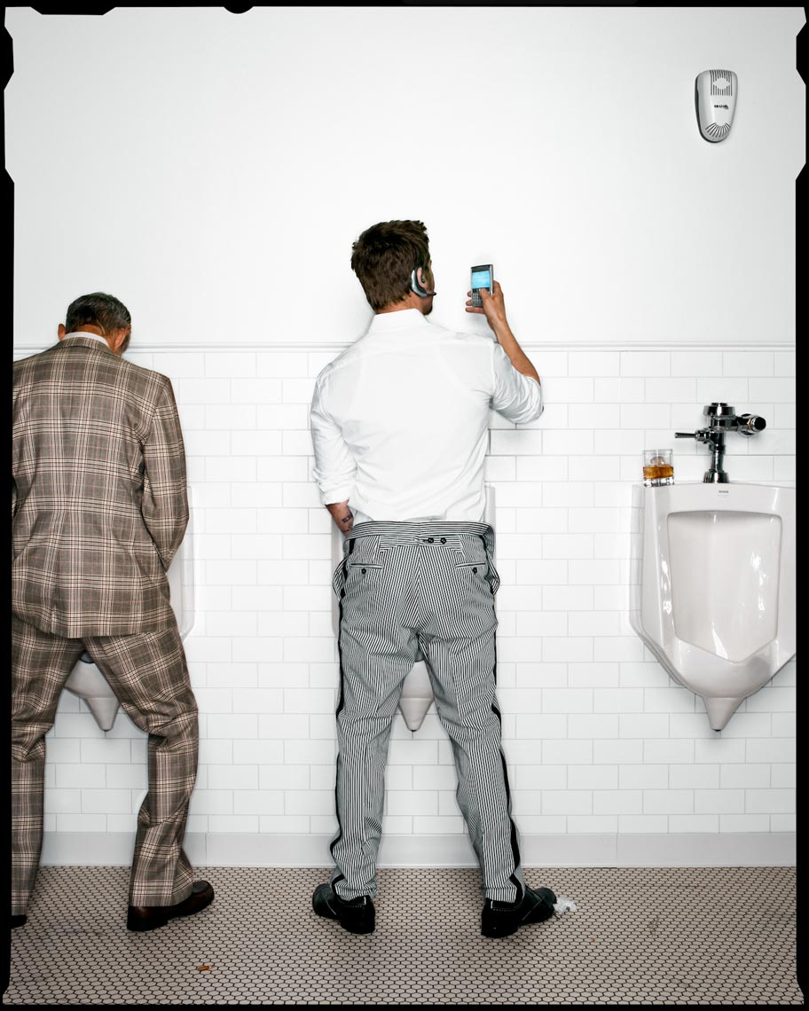 Should I Text in the Mens Room - Hollywood, CA - Wired Magazine (New Rules for Digital Gentlemen)