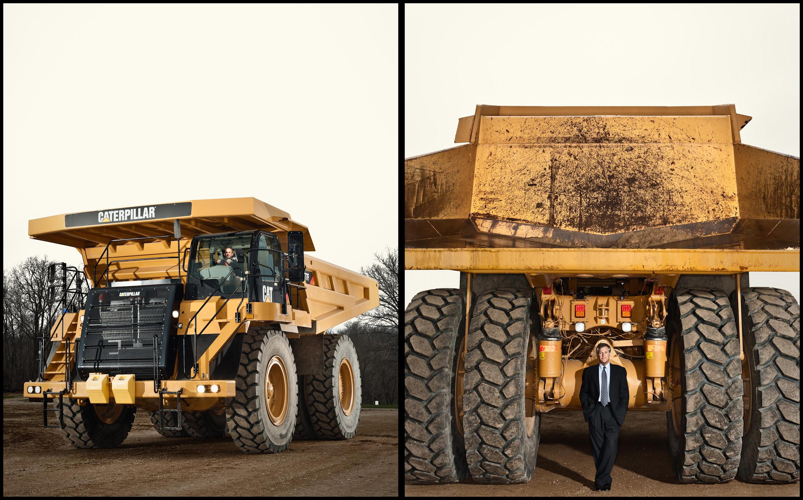 Caterpillar 777 truck and CEO Douglas Oberhelman - Peoria, IL - Fortune Magazine