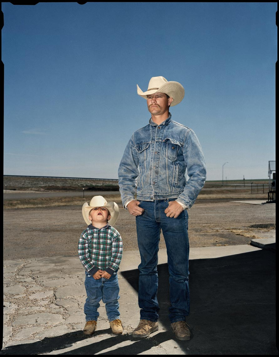 R.D. Horn and his son Bronc, Route 66 - Adrian, TX - Texas Monthly