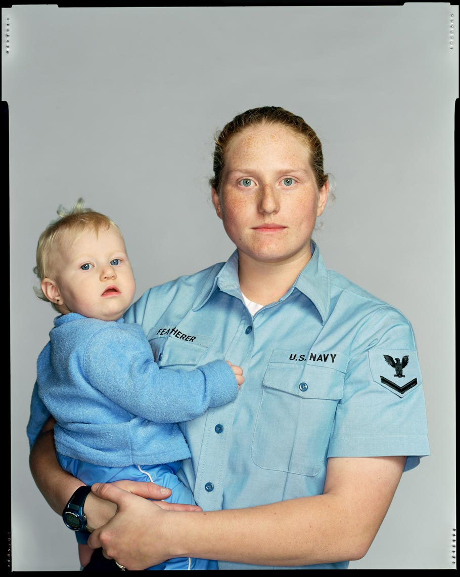 Tara Featherer and daughter Dakota Featherer - Naval Air Station Lemoore, CA - New York Times Magazine