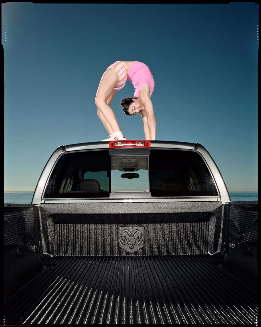 Contortionist on Truck - Malibu, CA - Fortune Magazine
