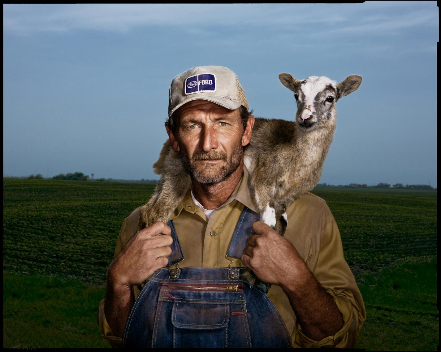 Man with Goat - Elgin, TX - Jesse James Workwear