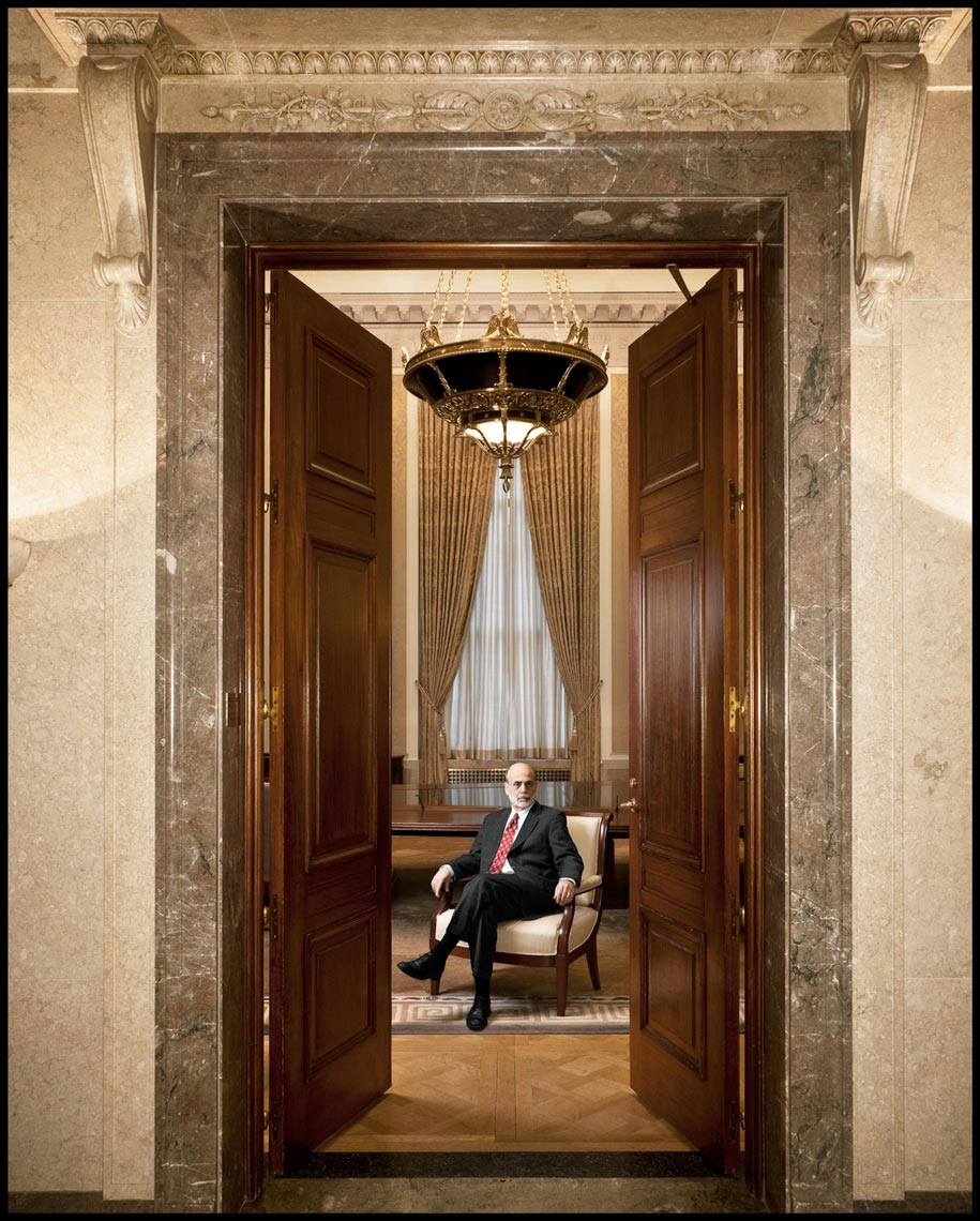 Bernanke in Board Room - Washington, D.C. - Time Magazine (Man of The Year)